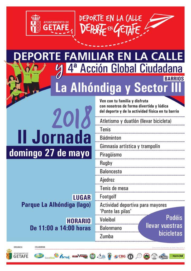 jornada deporte familiar en la calle La Alhóndiga Sector III