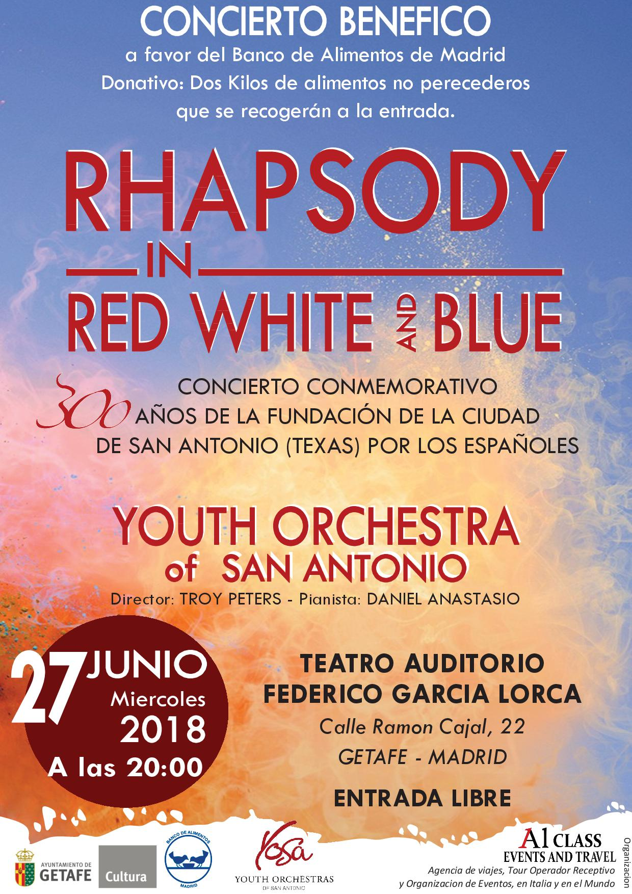 Concierto Rhapsody in red White and Blue