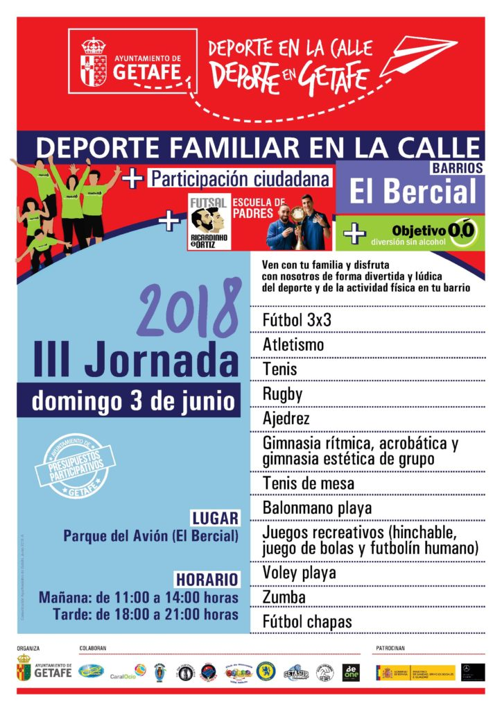 III Jornada del Deporte Familiar en la Calle 2018