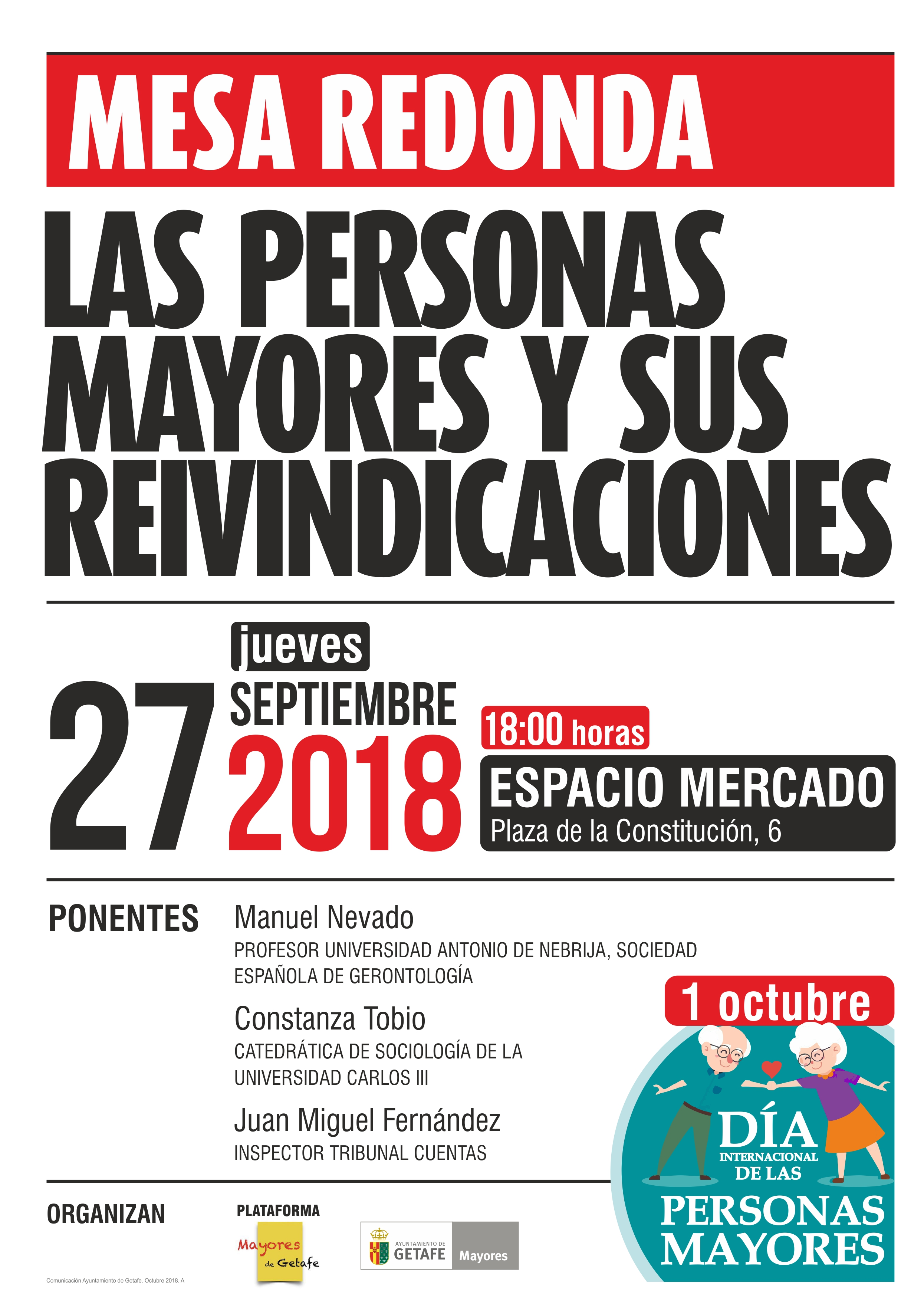 Mesa Redonda Personas Mayores