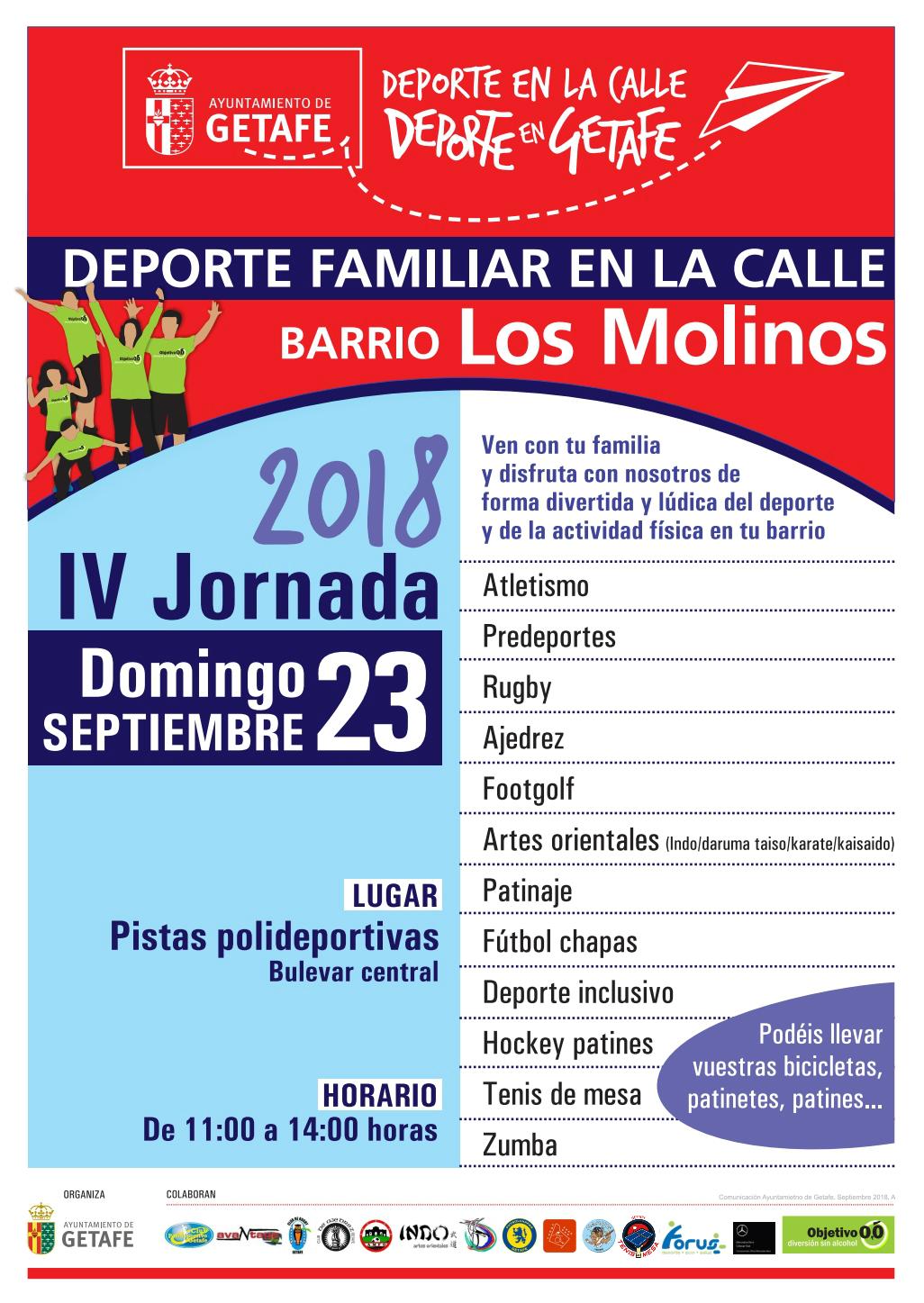 IV Jornada de Deporte Familiar en la Calle Barrio Los Molinos