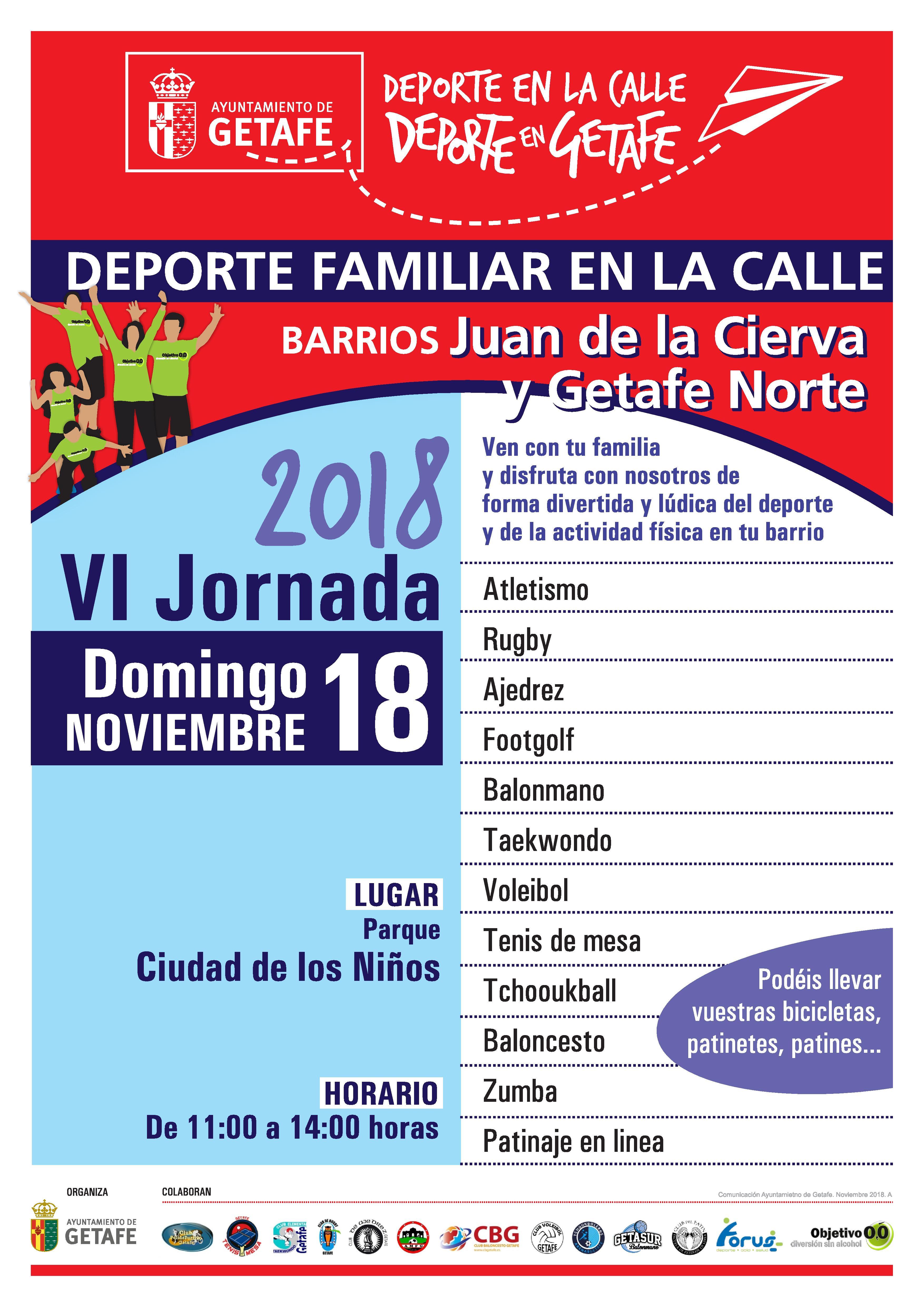 VI Jornada del Deporte Familiar en la Calle 2018