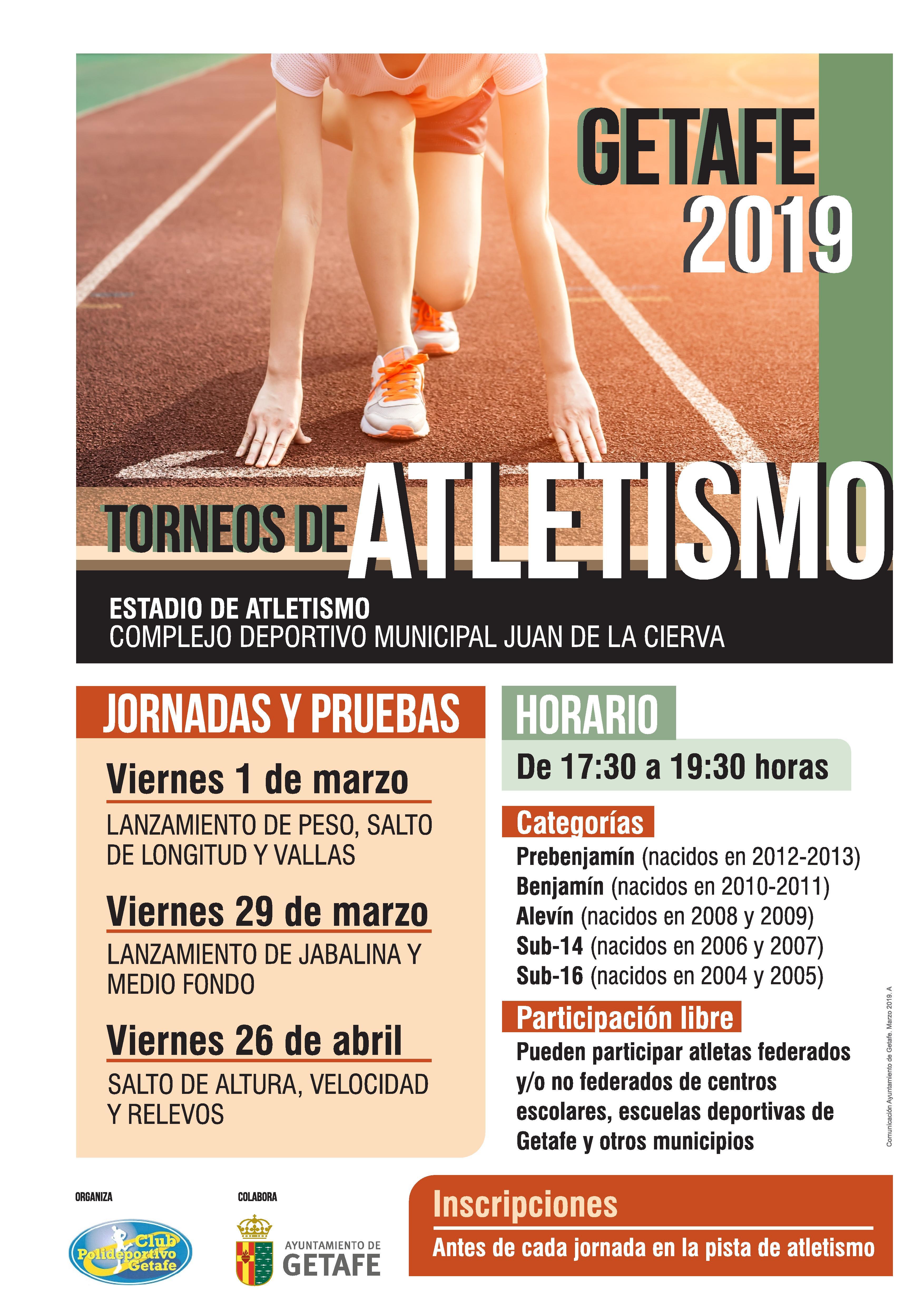 Torneos de Atletismo de Getafe 2019 (1ª Jornada)