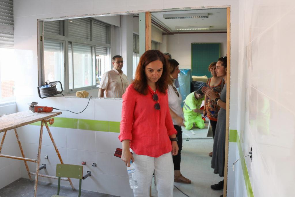 visita obras colegio Quevedo