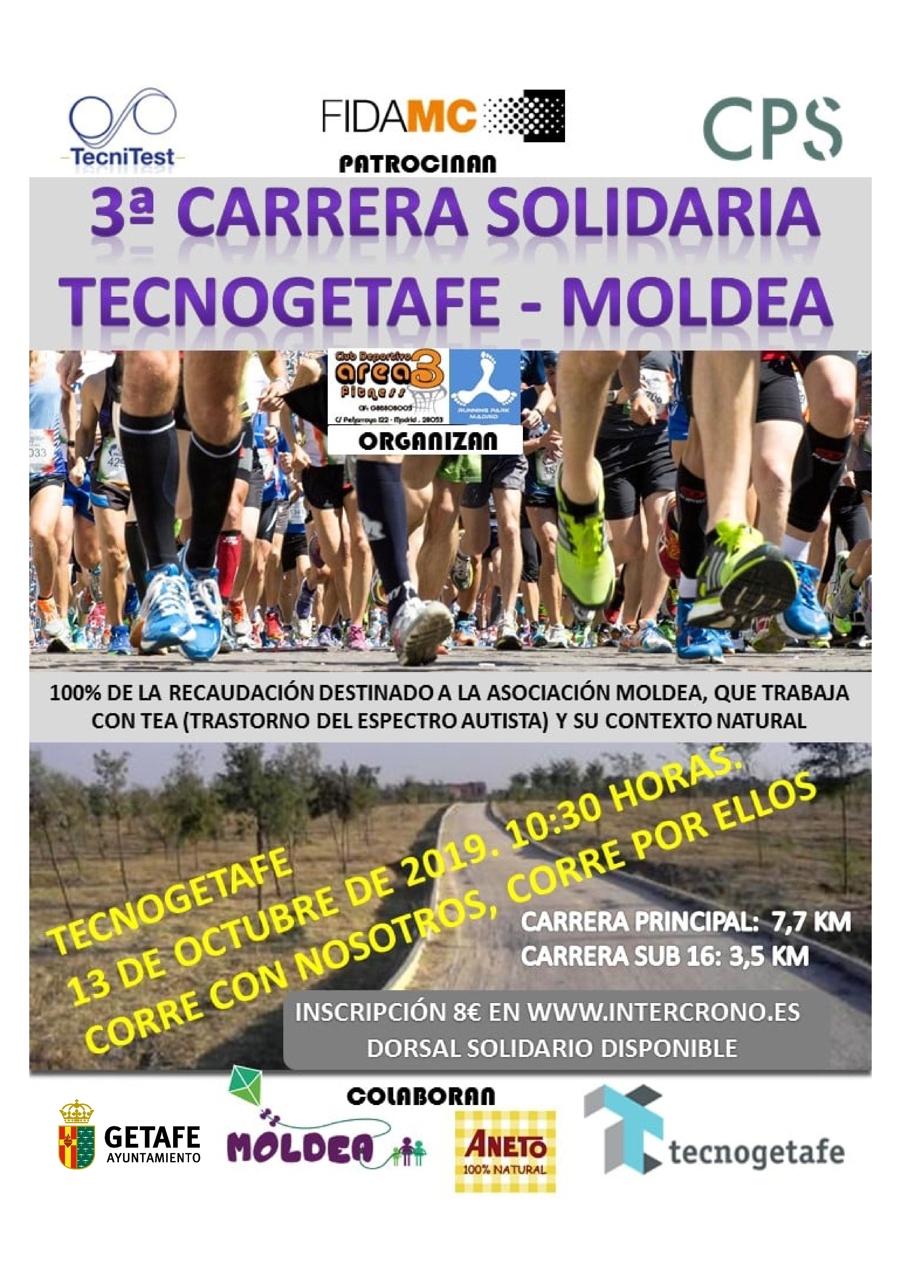 3ª Carrera Solidaria TecnoGetafe-Moldea