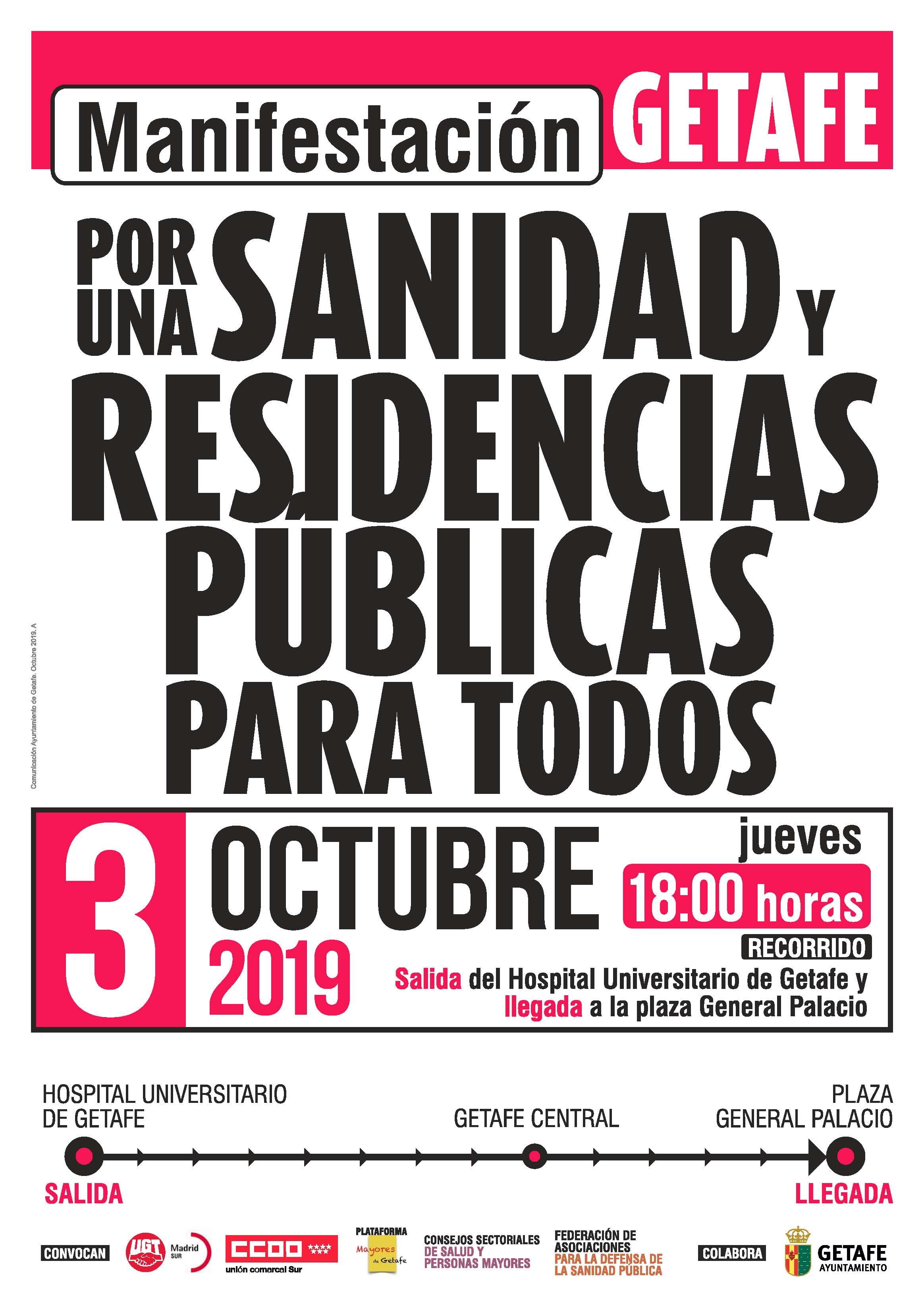 Manifestación sanidad residencias públicas