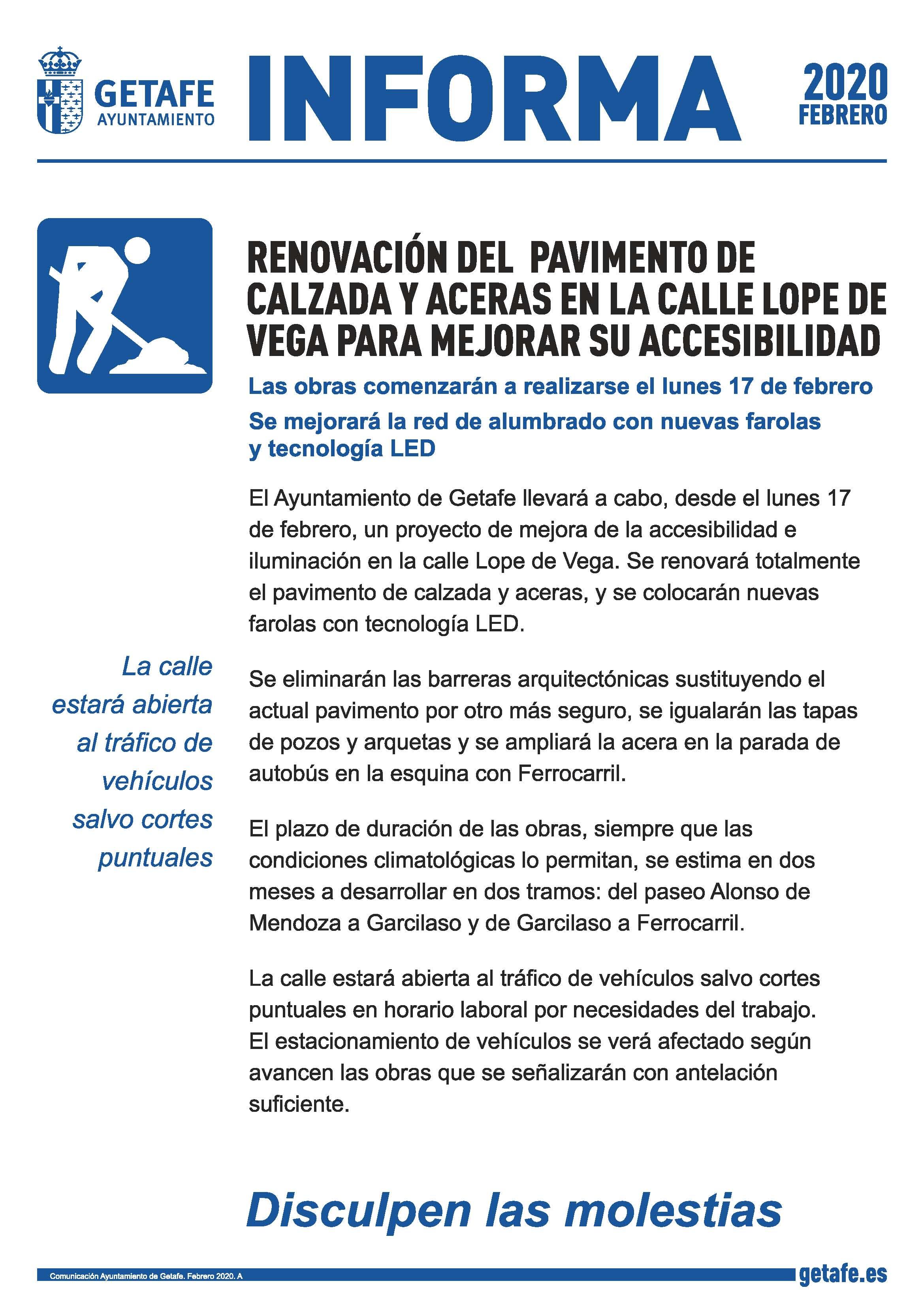 Informa Lope de Vega
