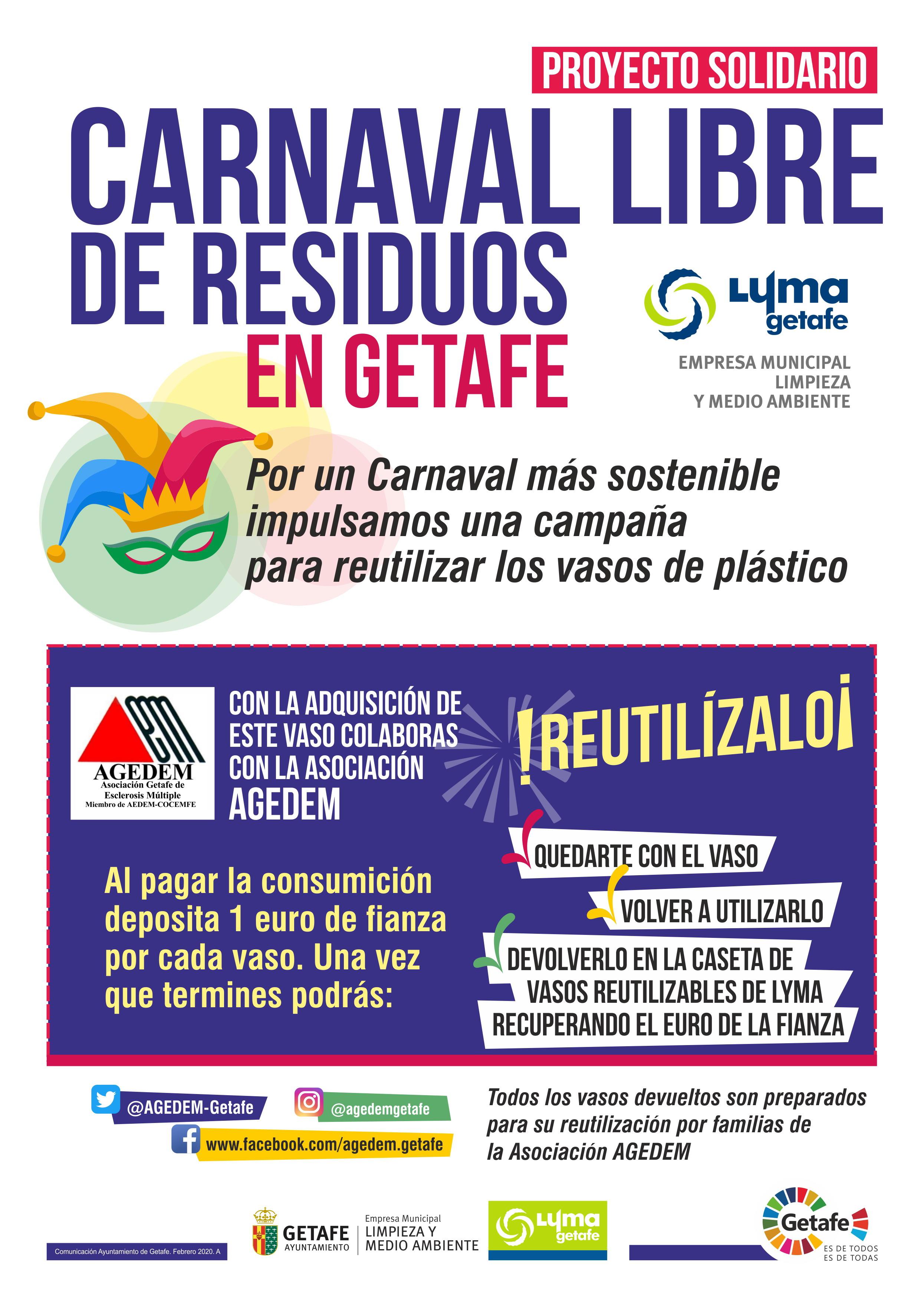 Carnaval LYMA AGEDEM reciclaje vasos